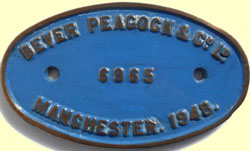 click for 11K .jpg image of BP Erne makers plate
