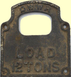 click for 15K .jpg image of DWWR wagon plate