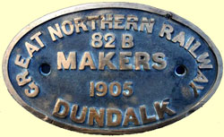 click for 16K .jpg image of a GNR tender plate