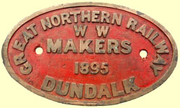 click for 14.5K .jpg image of GNR tender plate