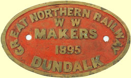 click for 14K .jpg image of GNR tender plate