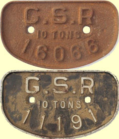 click for 20K .jpg image of GSR wagon plates