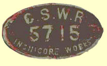 click for 7.9K .jpg image of GSWR wagonplate