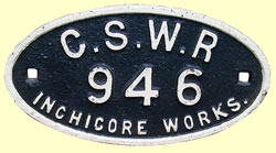 click for 12K .jpg image of GSWR wagon plate