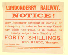 click for 14K .jpg image of Londonderry Railway notice