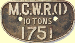 click for 12K .jpg image of MGWR wagon plate