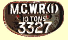 click for 11.8K .jpg image of MGWR wagon plate