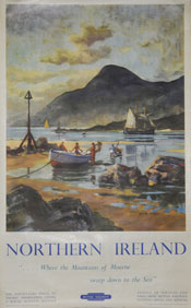 click for 17K .jpg image of BR NI - Mourne poster
