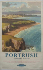 click for 9K .jpg image of Portrush poste